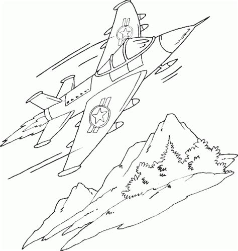 sleek jet airplane coloring page coloring com