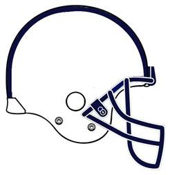 Football Helmet Outline Profile by Plain Football Helmets Clipart Best