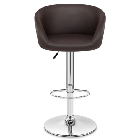 Brown Faux Leather Stool by Brown Faux Leather Eclipse Bar Stool Atlantic Shopping