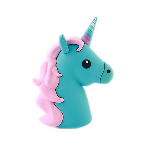 Powerbank Unicorn emoji blue unicorn portable charger power bank 2600 mah futurocks