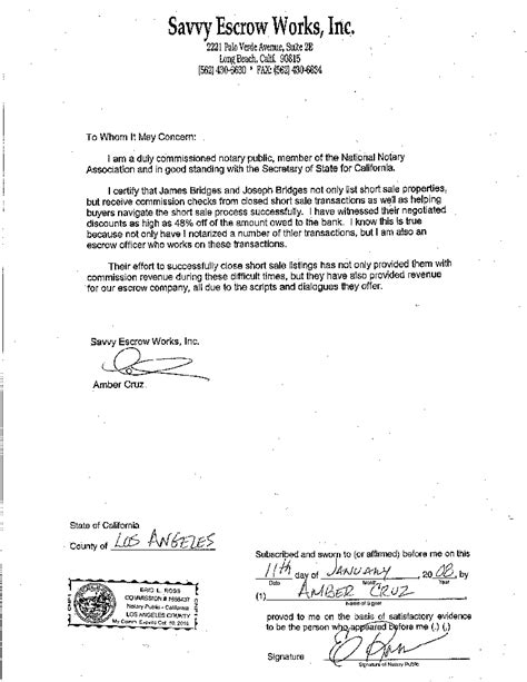 notarized letter