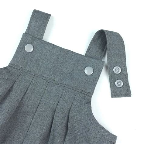 Baby Overall Grey baby boy charcoal grey vintie overalls my baby dear