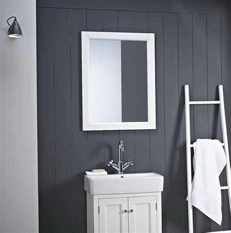 large white bathroom mirror home design ideas