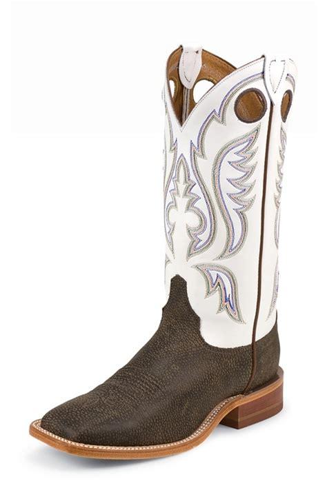 justin mens cowboy boots justin bent rail s chocolate bisonte cowboy boots white