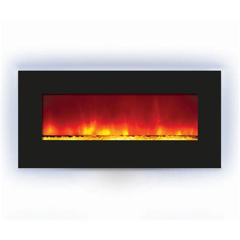 Amantii Electric Fireplace by Amantii Backlit Wall Mount Or Built In Electric Fireplace W 44x23 In Black Glass Surround Wm Bi