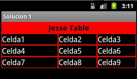 android table layout equal height for rows android como adicionar bordas nas colunas e linhas de um
