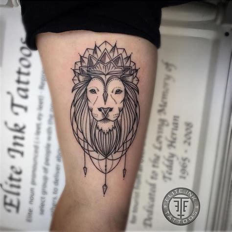 lion mandala tattoo blackwork mandala by adam bartley elite