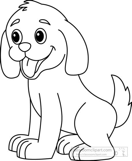 puppy outline animals clipart puppy black white outline 914 classroom clipart