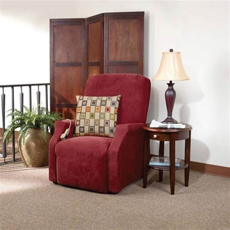 lift recliner slipcover garnet stretch pique large lift recliner slipcover sure