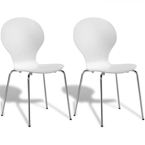 White Stackable Chairs by 2 Stackable Butterfly Dining Chairs White Vidaxl Co Uk