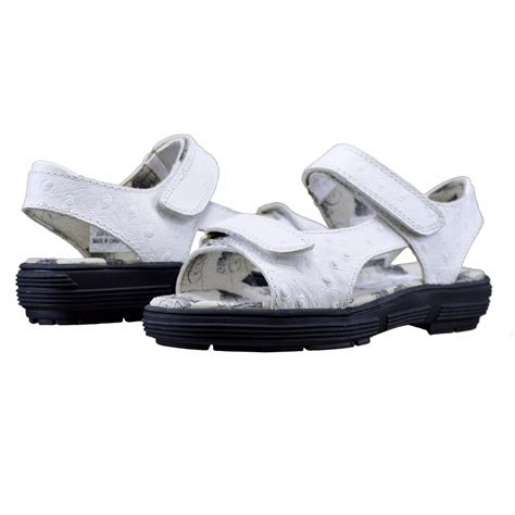 womens golf sandals size 9 golfstream shoes two faux ostrich white golf