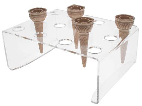 porta cono gelato porta coni in plexiglass da banco a 12 fori
