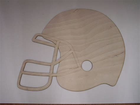 football helmetlaser cutoutsunfinished woodhome decor