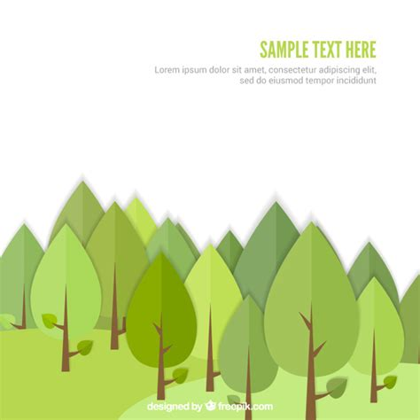forest templates green forest template vector free