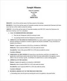 template of minutes of meetings exles meeting minutes template 13 free documents in