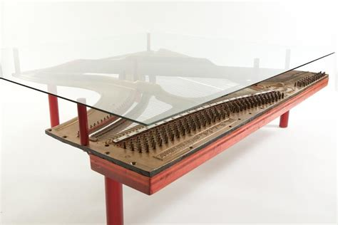 custom reclaimed piano coffee table by wine barrel