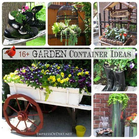 Creative Ideas For Garden 16 Creative Garden Container Ideas