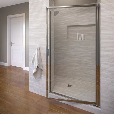 Basco Shower Doors Reviews Shop Basco 31 125 In To 32 875 In Pivot Shower Door At Lowes