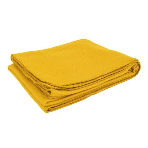 Gelbe Decke by Economy Throw Fleece Blankets Northeast Fleece Co