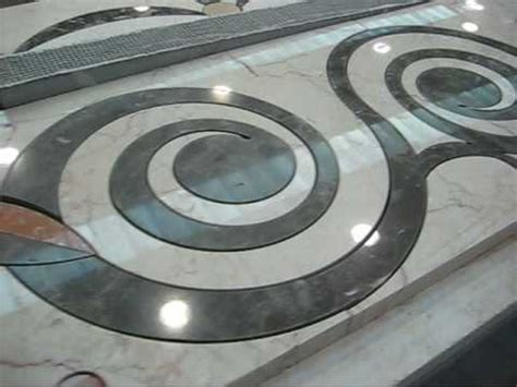 Circular Carpet 60x60cm cutting marble carpets using a water jet machine by