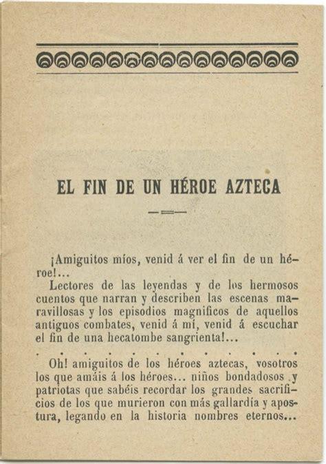 el fin de un heroe azteca o la maldici 243 n eterna