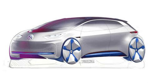volkswagen electric concept vw electric concept shows a design mix between tesla and