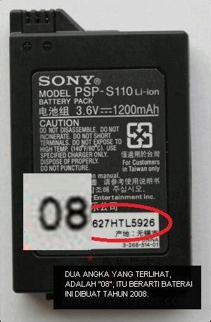 Perbedaan Baterai Hp Nokia Original Dan Palsu tip 2 perhatikanlah nomor seri baterai psp
