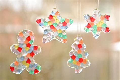 fishing line christmas tree instructions melted bead ornaments pony bead ornaments