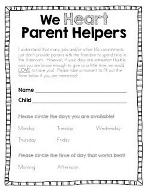 Parent Letter Community Helpers Best 25 Parent Volunteer Form Ideas On Classroom Volunteer Parent Volunteers And