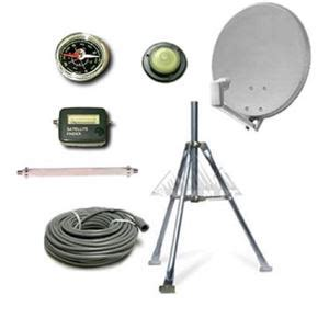 rv portable  satellite dish mobile tv antenna kit directv tripod camper travel digital signal qui