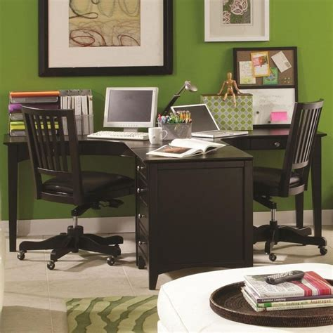 2 person desk home office furniture 1000 ideas about two person desk on 2 person