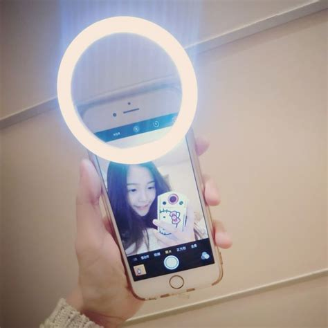 Baterai Samsung Ch Ic selfie spotlight led flash l phone ring white jakartanotebook