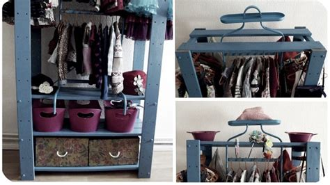 this diy mini closet saves space is made from parts