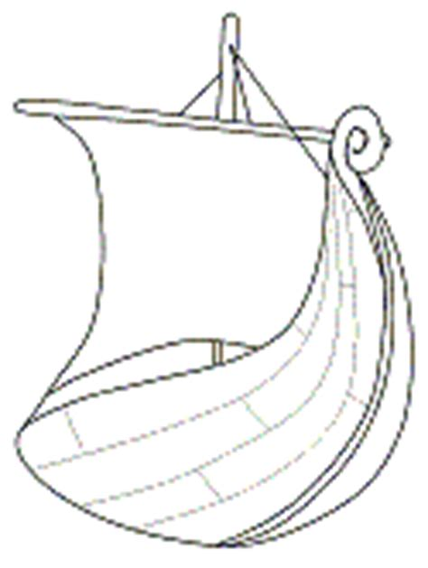 longboat template viking longship coloring pages