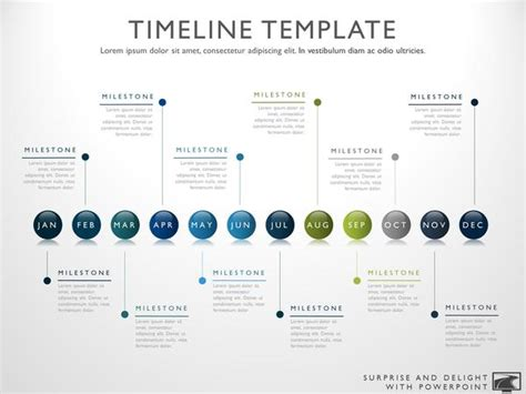 how do you create a powerpoint template twelve phase horizontal timeline graphic