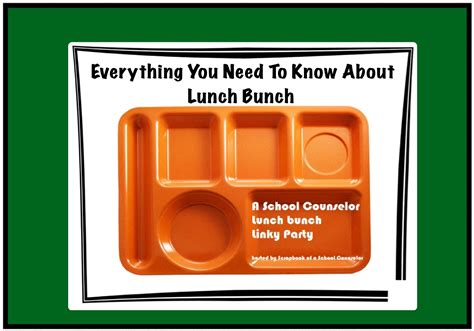 lunch bench a school counselor lunch bunch linky party the middle