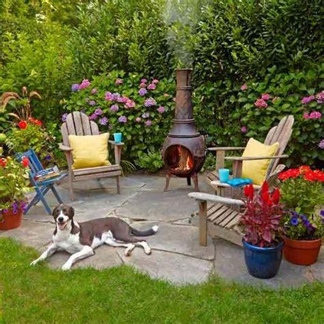 chiminea seating area best 25 backyard sitting areas ideas on