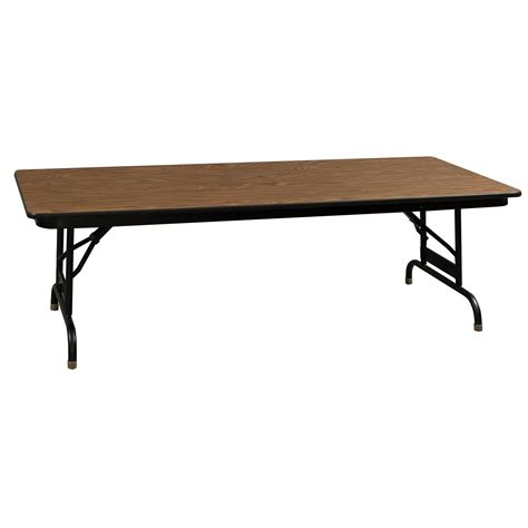 Adjustable Height Folding Table Ki Heritage Adjustable Height Used Folding Table 30 215 72 Walnut National Office Interiors And