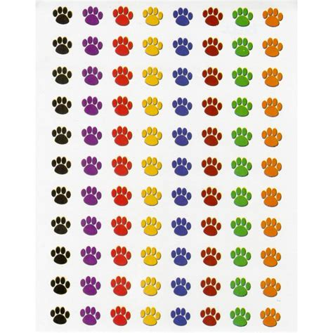Sticker Small mini colorful paw prints stickers