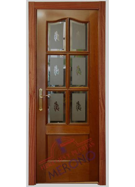 puerta interior madera puerta de sapely barnizado de interior mod 412