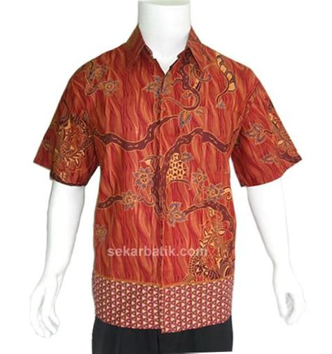 Kemeja Batik Baju Batik Pria Cowok Btk26 baju kemeja batik pria modern modern batik sekar