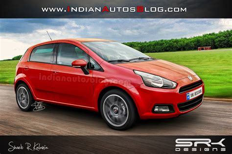 fiat punto 2014 2014 fiat punto facelift with avventura s headlights render