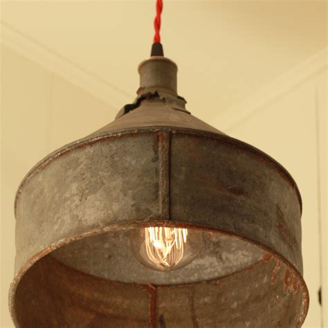 Rustic Light Pendants Reserved For Jacquidowd Rustic Lighting With Vintage Rustic Funnel Shade Pendant 108 00