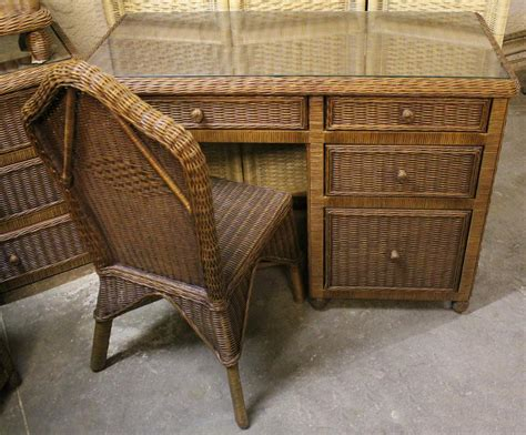 Wicker Desk And Chair by Hton Bay Wicker Desk And Chair Set All About Wicker