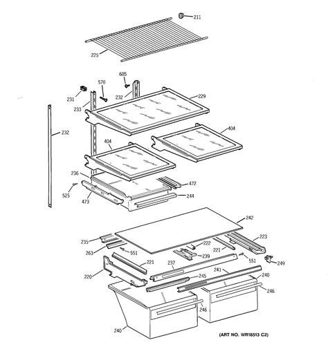 hotpoint refrigerator  series cabinet parts model