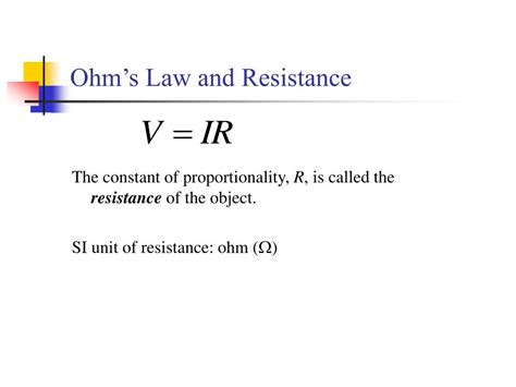 ohm s resistance and resistors ppt chapter 20 circuits powerpoint presentation id 164753