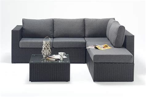 small rattan corner sofa small prestige black right rattan corner sofa set homegenies
