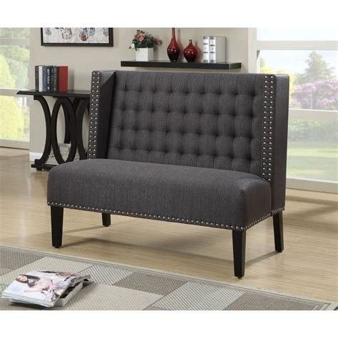 Living Room Benches - pri fabric living room bench in anthracite ds 2185 400