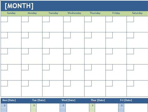Monthly Calendar Template Weekly Monthly And Weekly Planning Calendar Template Formal