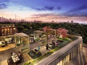 rooftop patio new rendering highlights great view from daniels highpark condos urban toronto